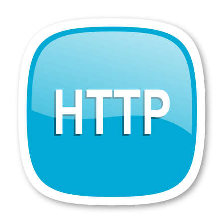 http: http blue glossy icon