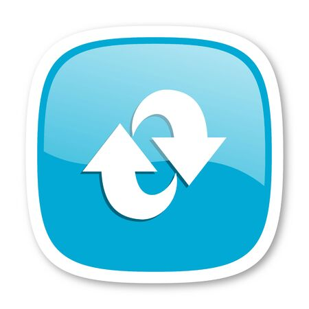 rotation: rotation blue glossy icon