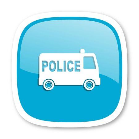patrolman: police blue glossy icon