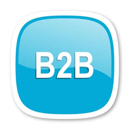 b2b: b2b icono azul brillante