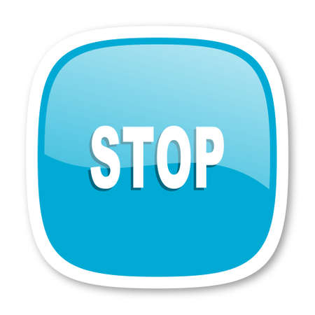 proscribed: stop blue glossy icon