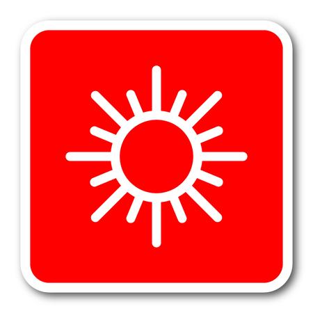clave sol: sol cuadrado rojo icono de web simple bandera etiqueta