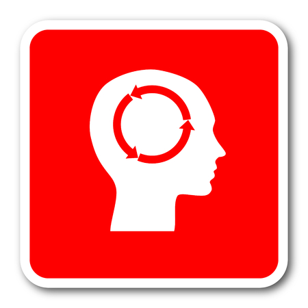 head tag: head red square simple tag banner web icon