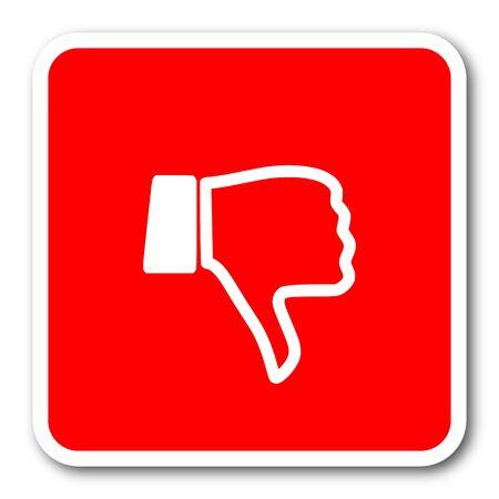 thumb keys: dislike red square simple tag banner web icon Stock Photo
