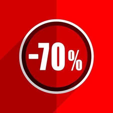 70: red flat design 70 percent sale retail web modern icon