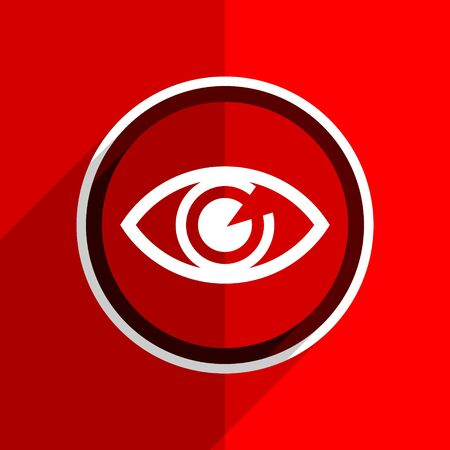 eye red: red flat design eye web modern icon