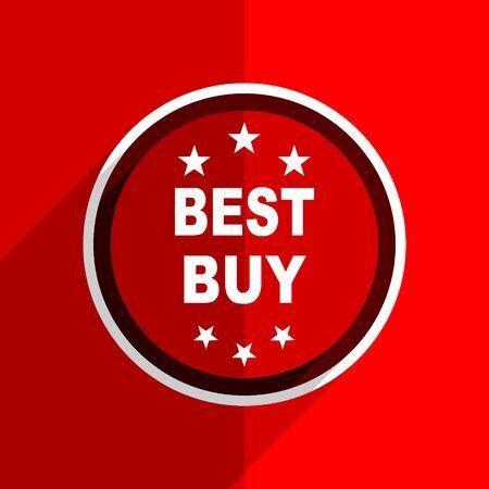best buy: red flat design best buy web modern icon