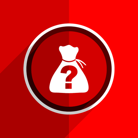 riddle: red flat design riddle web modern icon