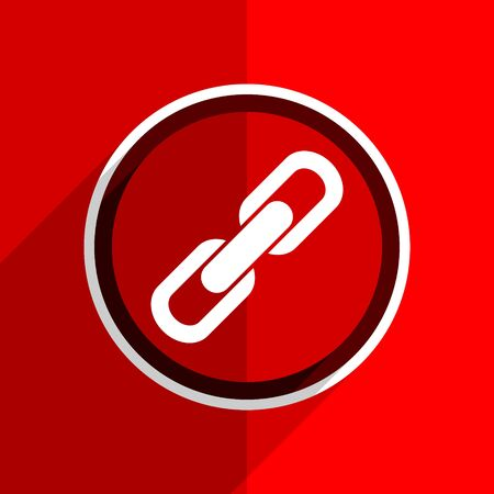 cohesion: red flat design link web modern icon Stock Photo