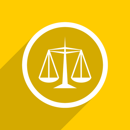 criminal act: yellow flat design justice web modern icon for mobile app and internet
