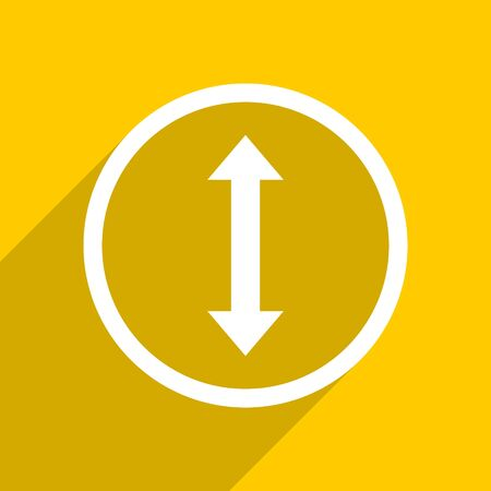 sterring: yellow flat design arrow web modern icon for mobile app and internet