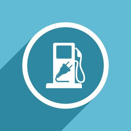 tanks: fuel icon, flat design blue icon, web and mobile app design illustration
