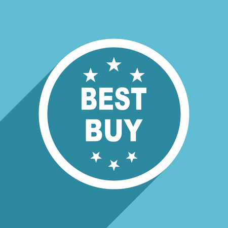 best buy: best buy icon, flat design blue icon, web and mobile app design illustration