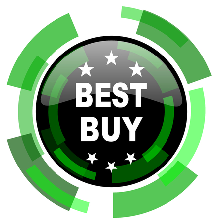 best buy: best buy icon, green modern design glossy round button, web and mobile app design illustration