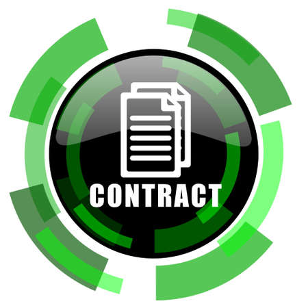 icom: contract icon, green modern design glossy round button, web and mobile app design illustration
