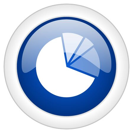 mobile internet: diagram icon, circle blue glossy internet button, web and mobile app illustration