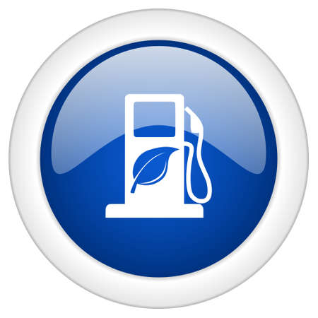 biodiesel: biofuel icon, circle blue glossy internet button, web and mobile app illustration