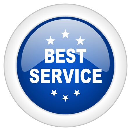 best service: best service icon, circle blue glossy internet button, web and mobile app illustration