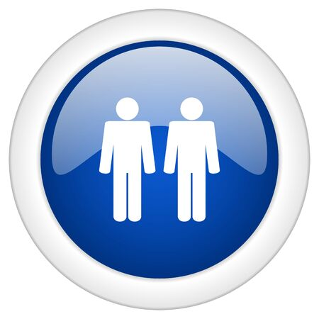homosexual wedding: couple icon, circle blue glossy internet button, web and mobile app illustration