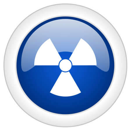 gamma radiation: radiation icon, circle blue glossy internet button, web and mobile app illustration Stock Photo