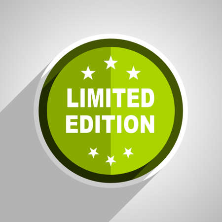 limited edition: limited edition icon, green circle flat design internet button, web and mobile app illustration Stock Photo