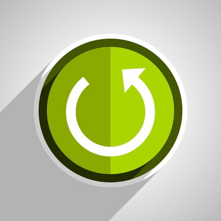 rotate: rotate icon, green circle flat design internet button, web and mobile app illustration Stock Photo
