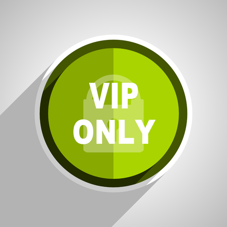 private club: vip only icon, green circle flat design internet button, web and mobile app illustration
