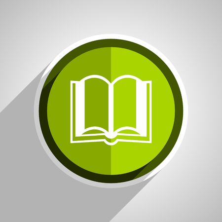 guestbook: book icon, green circle flat design internet button, web and mobile app illustration Stock Photo