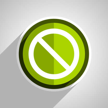 access denied icon: access denied icon, green circle flat design internet button, web and mobile app illustration Stock Photo