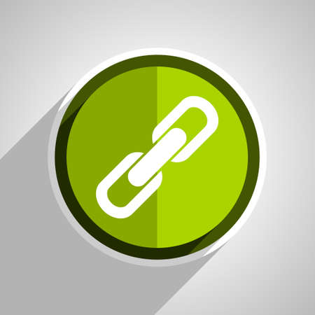 cohesion: link icon, green circle flat design internet button, web and mobile app illustration
