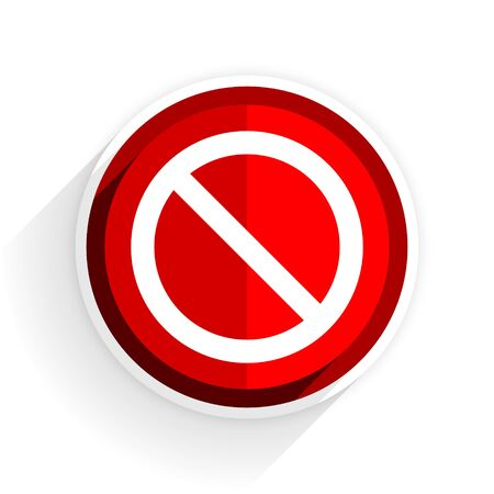 entrance is forbidden: access denied icon, red circle flat design internet button, web and mobile app illustration Stock Photo