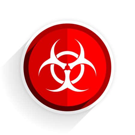 varez: biohazard icon, red circle flat design internet button, web and mobile app illustration Stock Photo