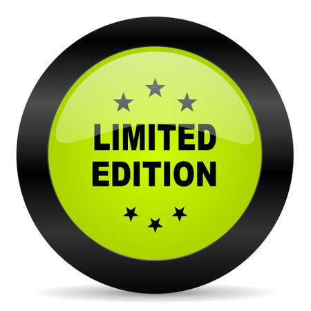 edition: limited edition icon Stock Photo