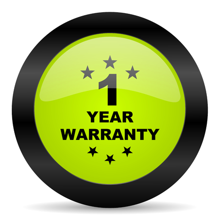1 year: warranty guarantee 1 year icon Stock Photo