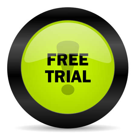 trial: free trial icon Stock Photo