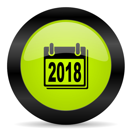 scheduler: new year 2018 icon Stock Photo