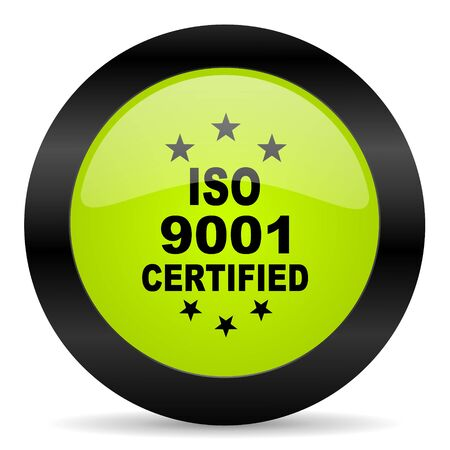 iso: iso 9001 icon