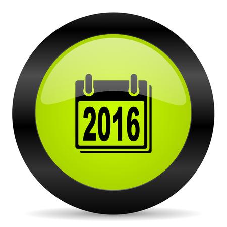 agenda year planner: new year 2016 icon