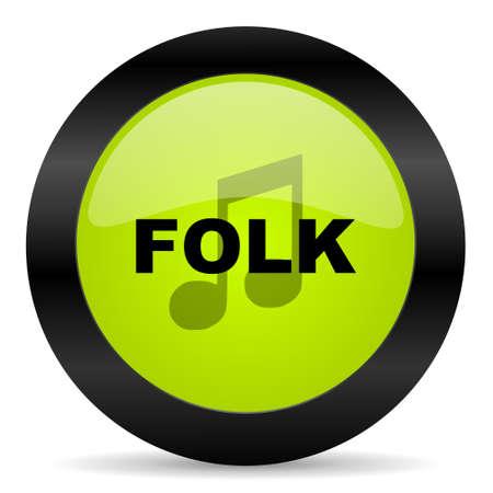 folk: folk music icon Stock Photo