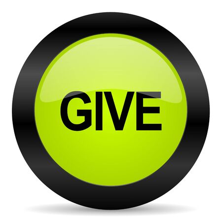 give: give icon Stock Photo