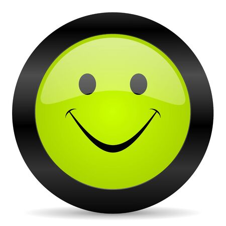 yea: smile icon Stock Photo