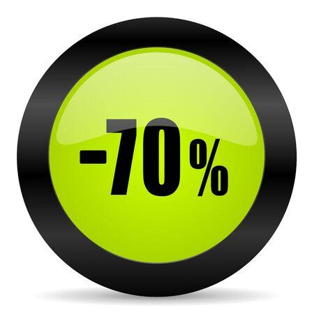 70: 70 percent sale retail icon Stock Photo