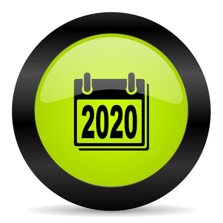 agenda year planner: new year 2020 icon