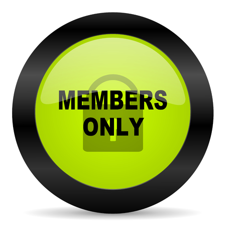 and only: members only icon Stock Photo