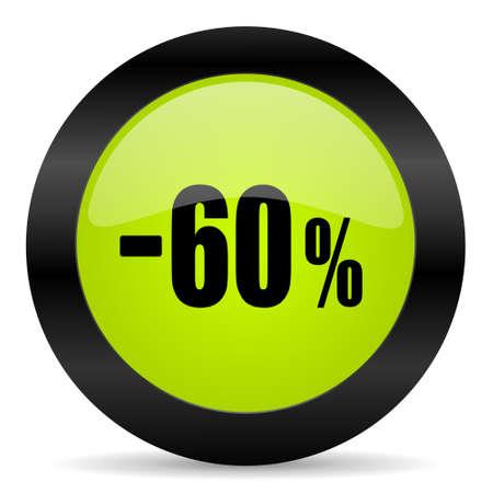 60: 60 percent sale retail icon Stock Photo