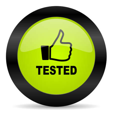 tested: tested icon Stock Photo