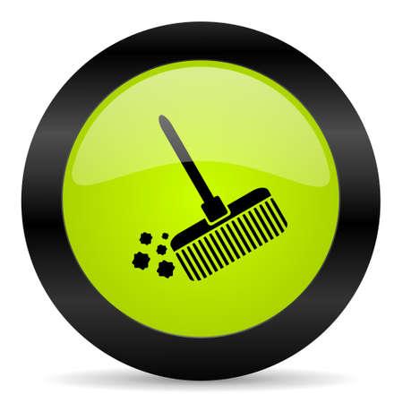 broom: broom icon Stock Photo