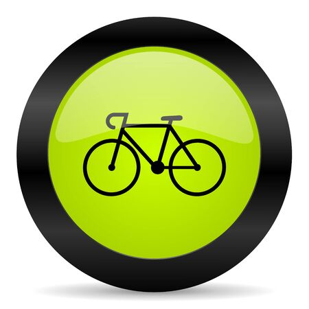 active content: bicycle icon Stock Photo