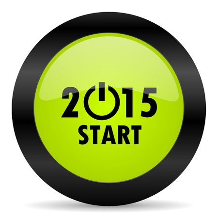 year: new year 2015 icon