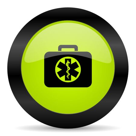 rescue circle: rescue kit icon Stock Photo